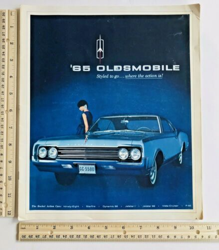 Vintage 1965 Oldsmobile Dealership Showroom Catalog Brochure 1960s Cars