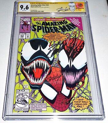 Amazing Spider-Man #363 Venom Dual Signature Autograph CGC SS STAN LEE & BAGLEY
