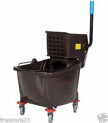 36 Quart Commercial Wet Mop Bucket & Wringer Combo BLACK Janitorial