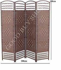 XL 200cm Rattan Office Bedroom Change Privacy Screen Room Divider Coburg Moreland Area Preview