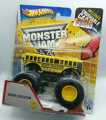 Hot Wheels Monster Jam 1st Edition Higher Education crushable Car School Bus