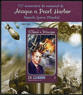 SAO TOME  2016 75th ANNIVERSARY OF THE ATTACK ON PEARL HARBOR  S/S MINT NH