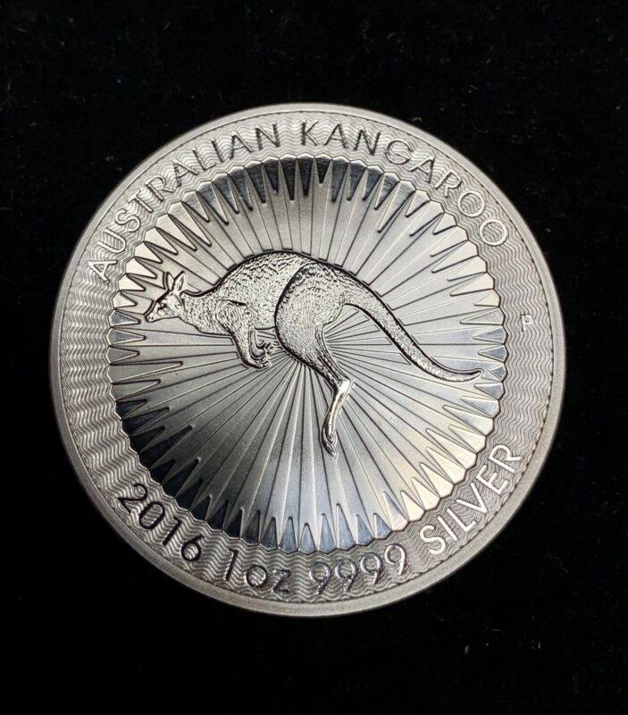 2 GEM BU 2016 Australia $1 Kangaroo .9999 Silver 1 oz Dollars from UNC ROLL MS