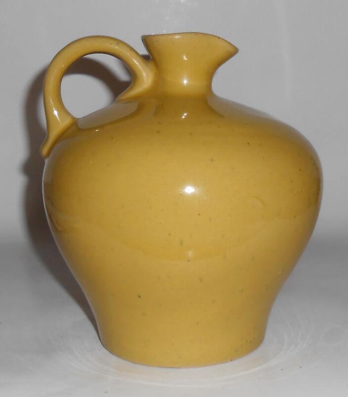Uhl Pottery Yellow Pinched Lip Jug Mint
