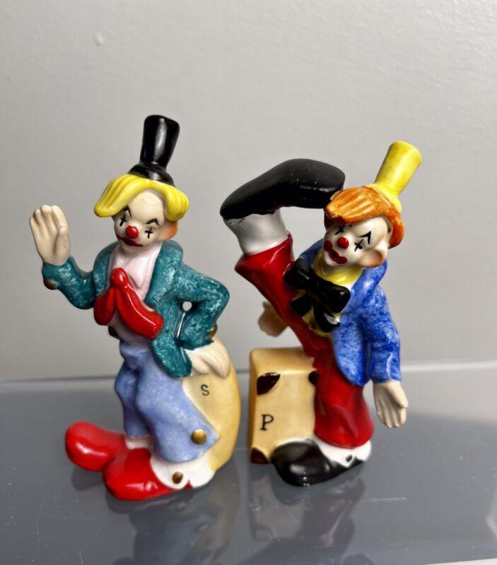 Vintage 3 1/2 In. NAPCO Clown Salt and Pepper Shakers 1957 Japan