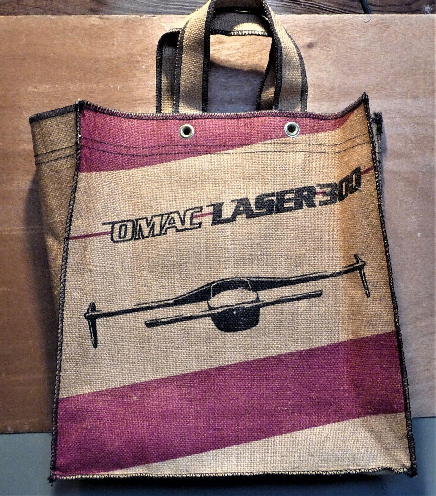Albany Georgia Omac Laser 300 Aircraft Manufacturing Collectible Burlap Tote Bag