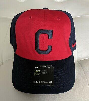 Cleveland Indians Nike Mesh Trucker Adjustable Baseball Cap Hat New  Cleveland Indians Baseball Hat