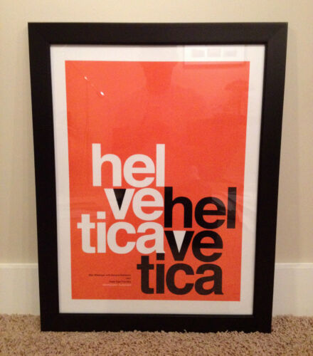 Red Helvetica Poster, Used