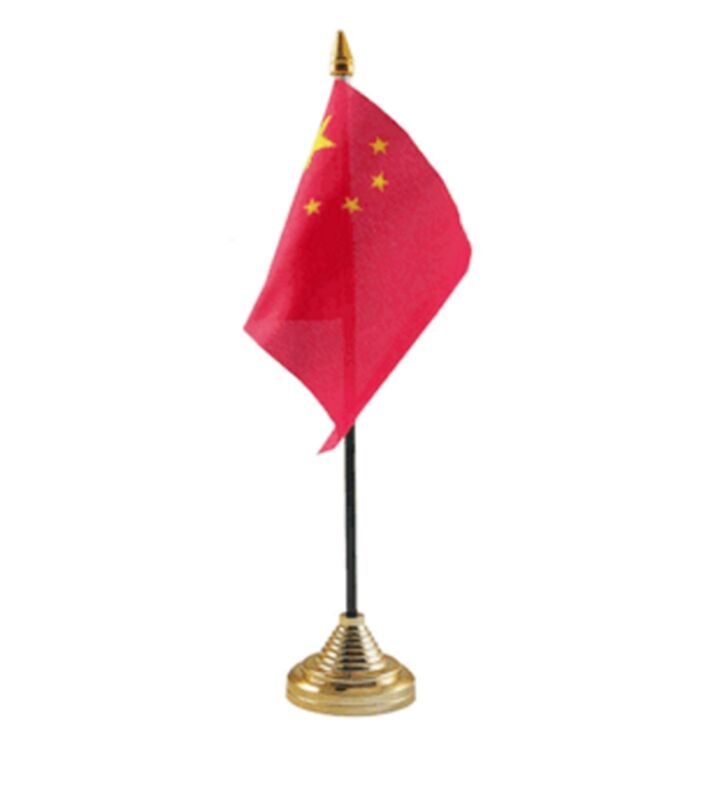 """CHINA DESKTOP TABLE FLAG 6""""X4"""" 15cm x 10cm flags CHINESE"""
