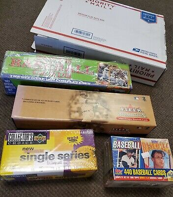 LOT of 4 BASEBALL CARD COMPLETE FACTORY SETS 1987 Topps 1996 Cereal 2001 Fleer 1987 Topps Factory Set