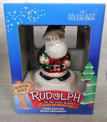 Rudolph and the Island of Misfit Toys ~ SANTA CLAUS ~ Glass Ornament