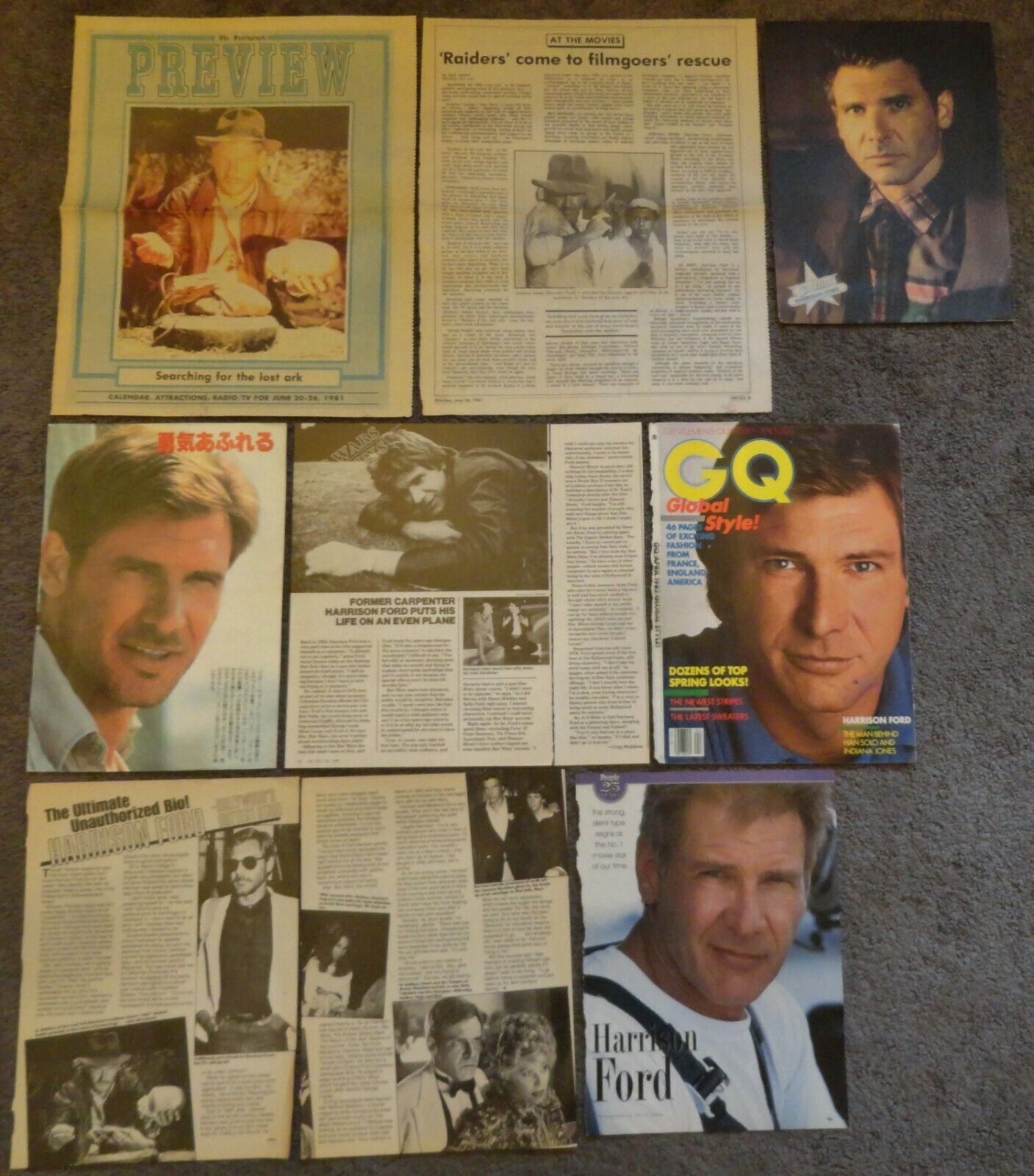 Very Nice HARRISON FORD Clippings Collection Star Wars - $7.50