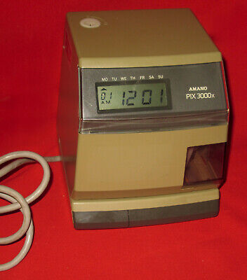 Amano Pix3000x Electronic Time Recorder Clock - No Key