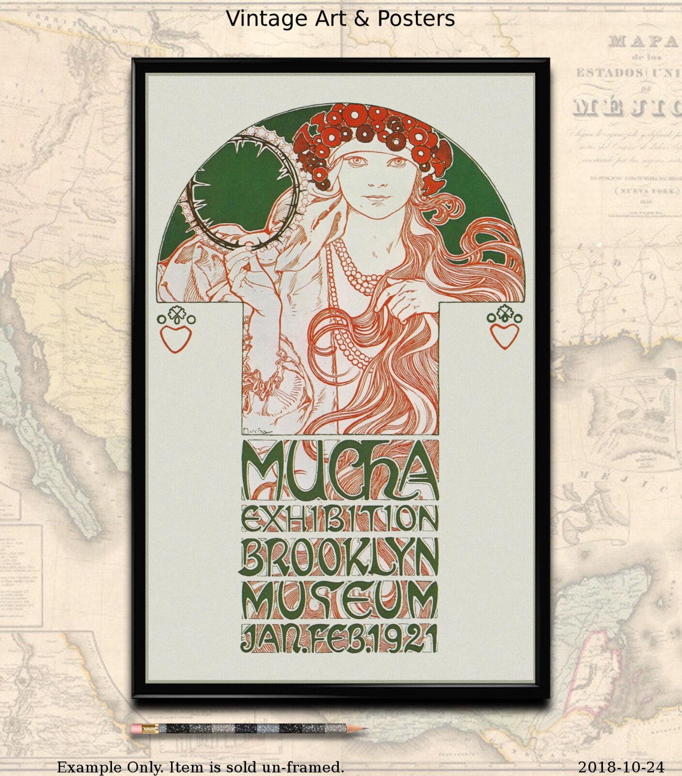 Salon des Cent 1896-11x17 inch Vintage Alphonse Mucha Art Nouveau Poster//Print