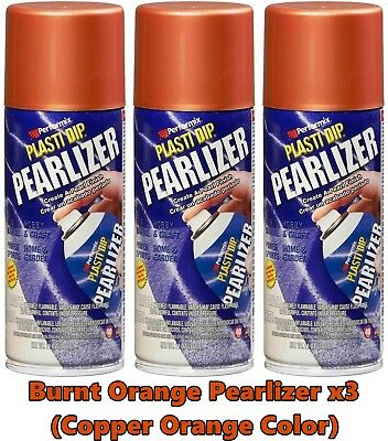 Plasti Dip Burnt Orange Pearlizer Spray Can 11289 3 Pack Burnt Copper Orange