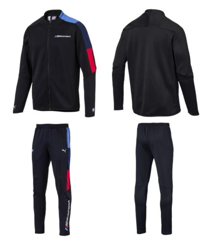 MEN'S PUMA BMW MOTORSPORT MMS T7 TRACK JACKET & PANTS TRACKSUITS BLUE