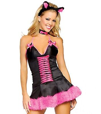 Pink Pussy Cat Costume ](Pussy Costume)
