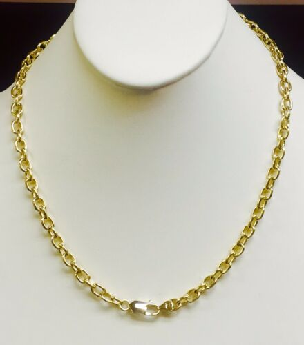 14k Solid Yellow Gold Handmade Link Men