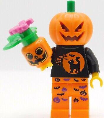 Lego Minifigure Halloween pumpkin head