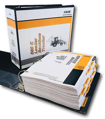 Case 580k Phase 1 Tractor Loader Backhoe Service Repair Manual Shop Book