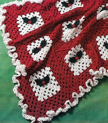 Berry Tree Set - PRETTY Holly Berry Set/Afghan/Stocking/Tree Skirt/Crochet Pattern INSTRUCTIONS