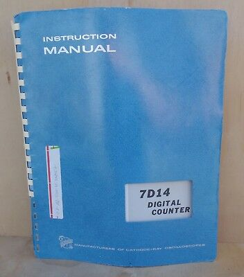 Tektronix 7d14 Digital Counter Instruction Manual