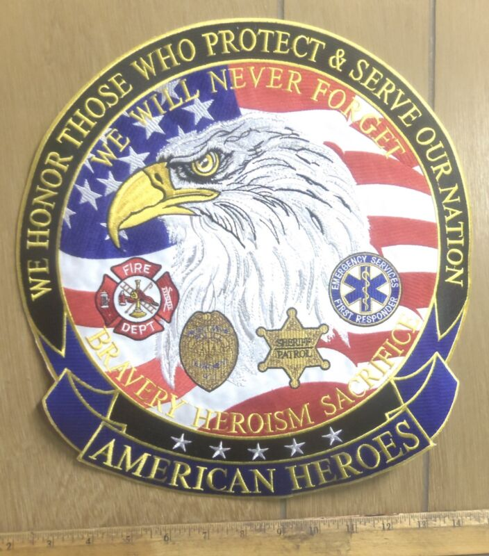 American Heroes – Emergency Services – Embroidered Back Patch