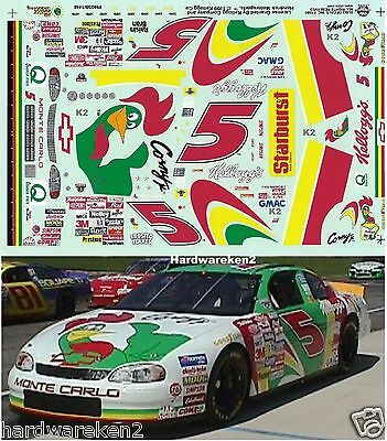 NASCAR DECAL # 5  KORNY -  KELLOGG'S 1998 MONTE CARLO TERRY LABONTE SLIXX