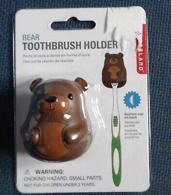 Bear Shape Toothbrush Holder Kikkerland Home Bathroom Accessory BNIP
