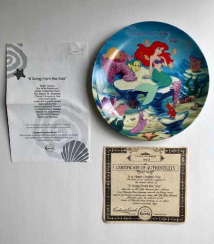 Disney The Little Mermaid Knowles Bradford Exchange Collector's Plate w COA 1993