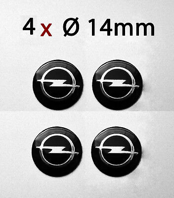 4 Stück AUFKLEBER OPEL Schlüssel Emblem / Logo / Aufkleber - 14mm