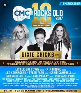 CMC ROCKS QLD 2017 3X 3 Day adult tickets and camping site Lake Charm Gannawarra Area Preview