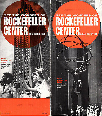 Rockefeller Center Vintage 1964 Promotional Brochure Guided Tour Photos Info
