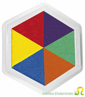 EDUPLAY  Riesenstempelkissen  Stempelkissen Multicolor  6 Farben  bunt  NEU - Multi Color Kissen