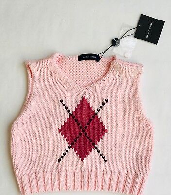 Used, Burberry Baby - Pink Sleeveless Cotton Sweater - Size 2 Years for sale  Shipping to India