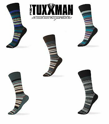 Red Striped Socks (New Mens Striped Dress Socks Blue White Apple Red Black Teal Pink Silver Yellow)