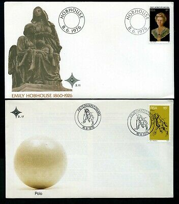 South Africa 1976 - 4 x different Unaddressed FDCs