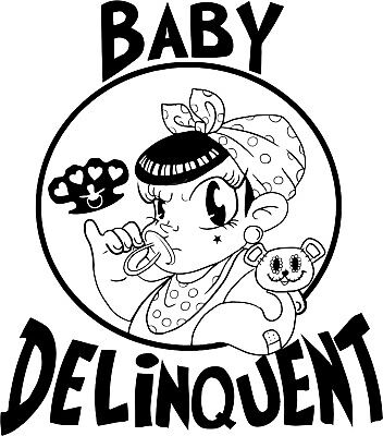 Baby Delinquent Logo Girl Baby Onesie Shower Gift Raunchy Funny Cute Romper Logo Baby Romper