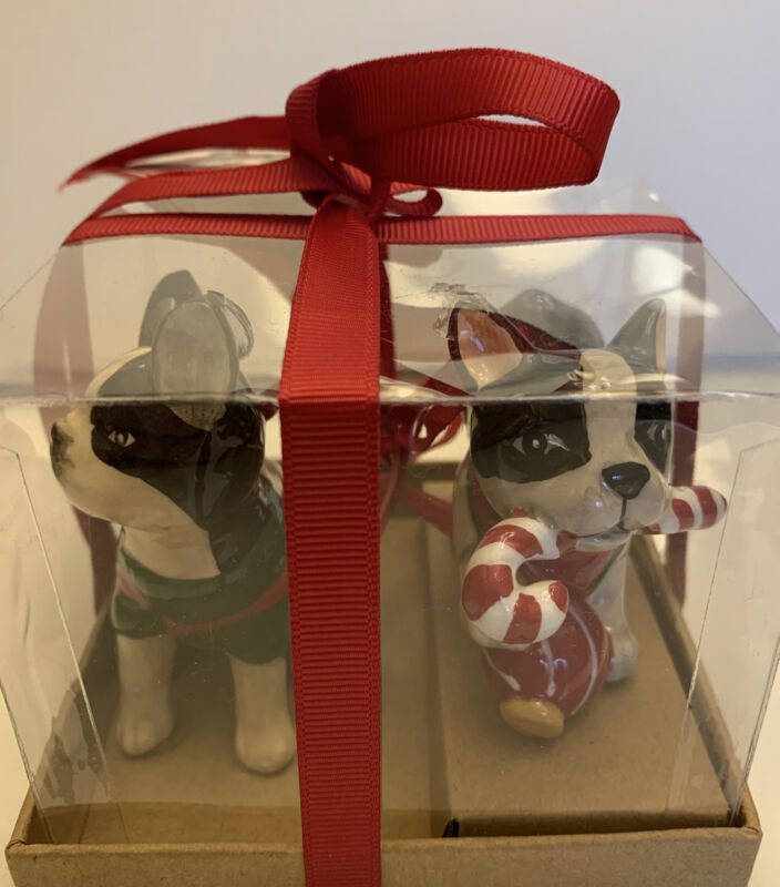 Boston Terrier Holiday Ornaments