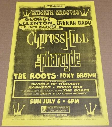 George Clinton ERYKAH BADU Cypress Hill PHARCYDE Original 1997 Concert Poster