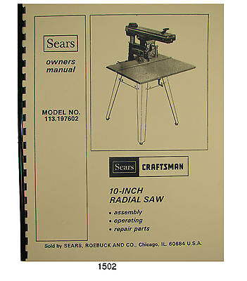 Sears Craftsman 10 Radial Arm Saw Table Mounting Support