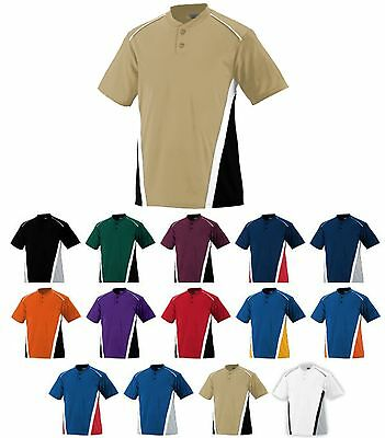 MEN'S 2 BUTTON PLACKET, MOISTURE WICKING, TRI COLOR, HENLEY JERSEY SHIRT, S-3XL