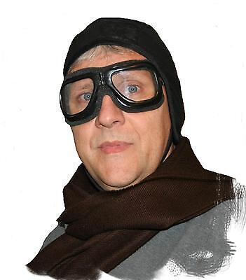 Aviator Helmet Goggles  vintage pilot car motorcycle steampunk adult costume hat
