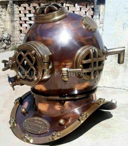 Vintage Boston Brass Diving Helmet Scuba Morse Mark V Deep Sea Diving Helmet