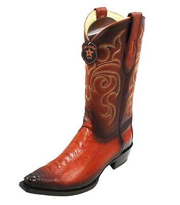 Ostrich Skin Boots - Men's Genuine Ostrich Leg skin Los Altos cowboy boots western exotic Snip Toe