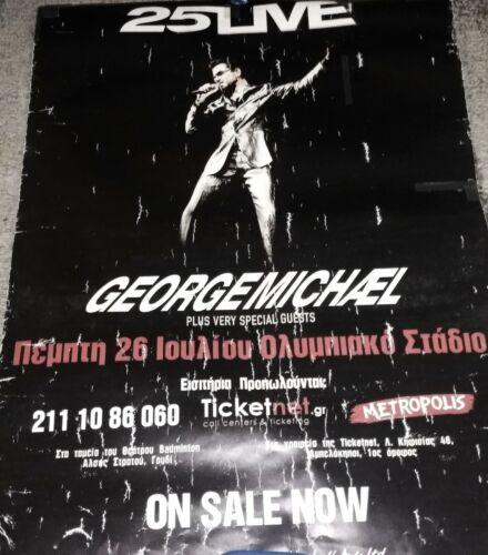 George Michael  vintage original promo poster Greece concert 2007