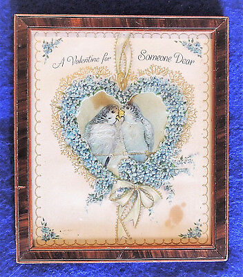 A Valentine for Someone Dear Framed Birds Heart-Shaped Wreath Wall Decoration ()