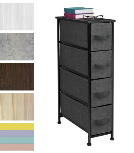 Sorbus Narrow Dresser Tower 4 Drawers Vertical Storage Bedroom, Laundry, Closet