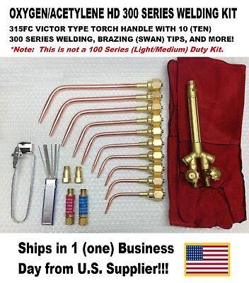 Victor Type Heavy Duty 300 Series 315fc Type Oxyacetylene Welding Torch Kit