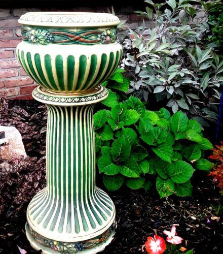 Original  Roseville pottery planter  & pedestal